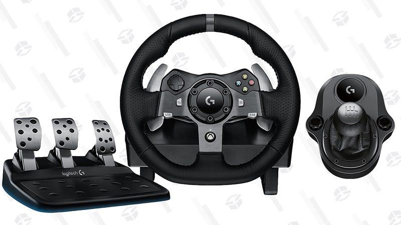 Logitech G920 Racing Wheel with Gear Shifter   $250   MassGenie