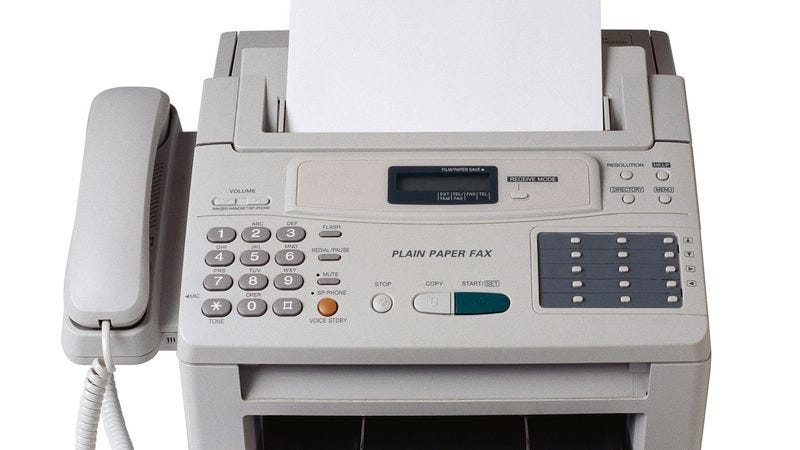 Illustration for article titled Report: Fax Machines Still Pretty Impressive If You Think About It