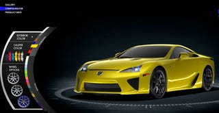 Illustration for article titled You Can Get A Lexus LFA In P***Y Magnet Yellow