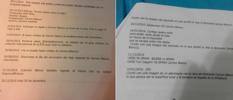 Dos imágenes del requerimiento de la fiscalía remitidas a Cassandra