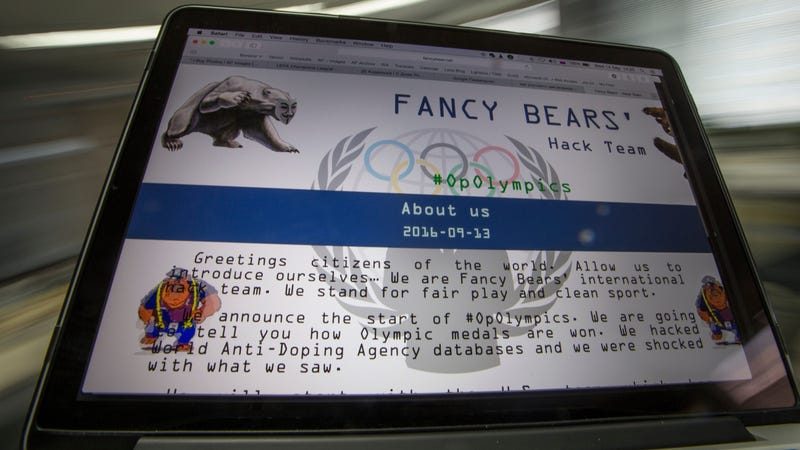 A photo of a Fancy Bear page in 2016.