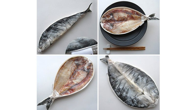 No one will touch your colored pencils stored in a gutted fish for Fish pencil case