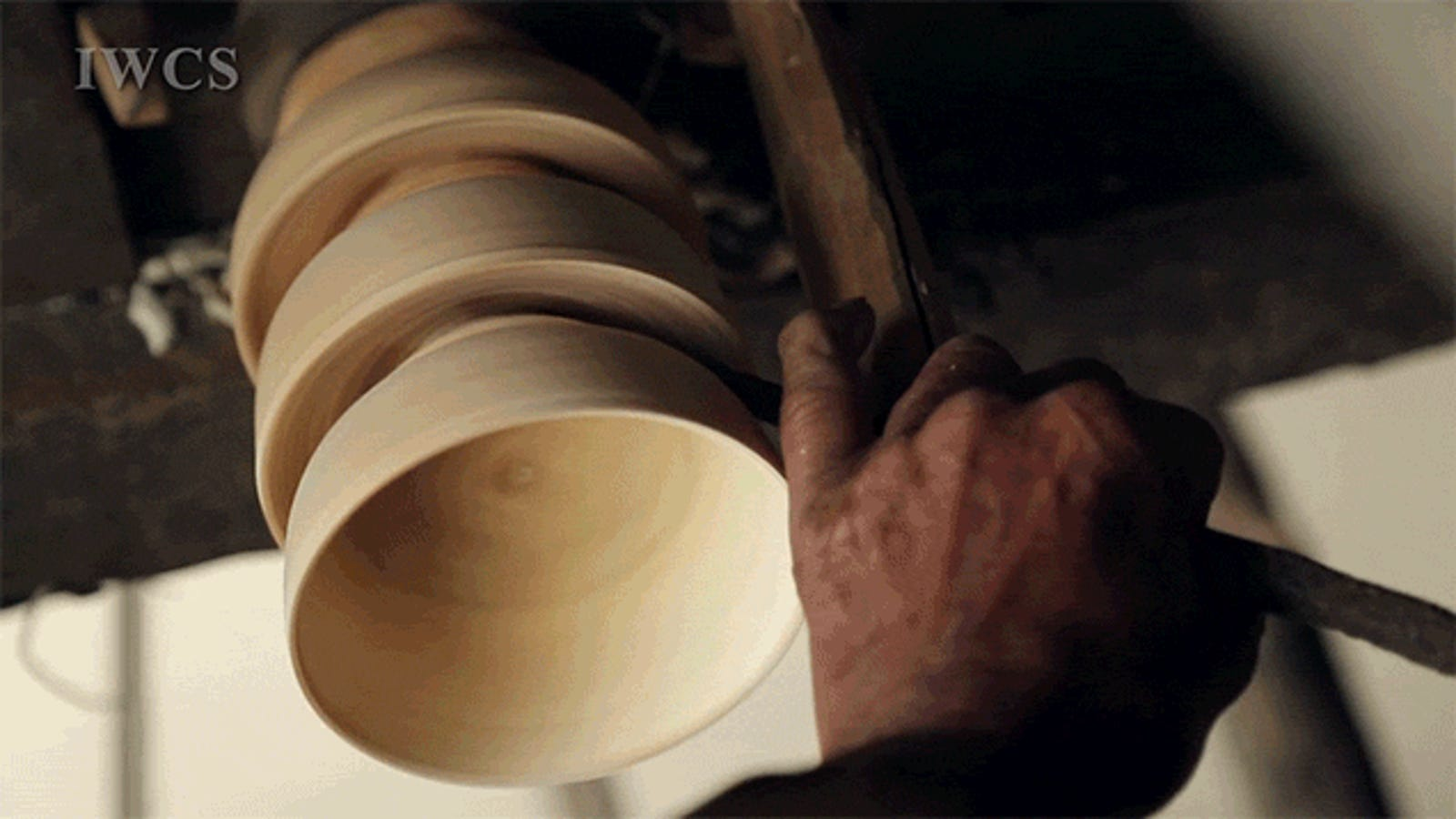 Watch a Bowl Get Carved from Wood Using Traditional Methods