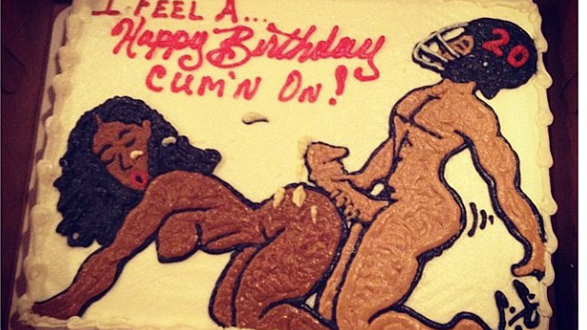 Heres Another Nsfw Cake That Brent Grimes Got For His Birthday