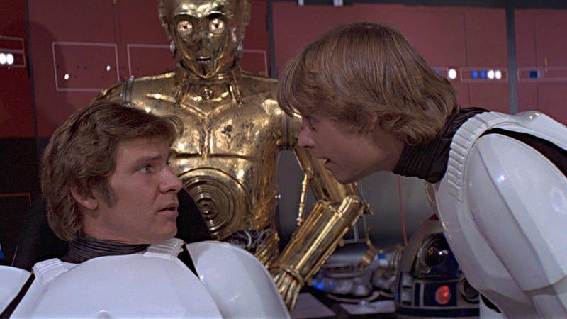 Illustration for article titled Así fue la primera prueba de pantalla entre Mark Hamill y Harrison Ford para hacer Star Wars