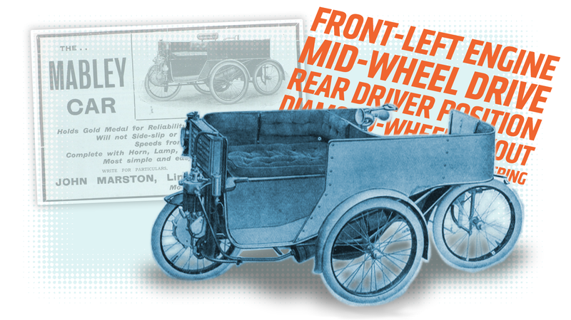 Illustration for article titled This Has To Be The Weirdest Layout Of Any Car Ever Built