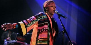 Lauryn Hill performs at a concert in Amsterdam last year. (AFP/Getty Images)