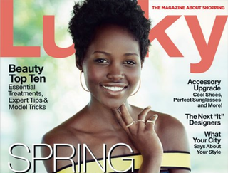 Lupita Nyong'o on the cover of Lucky magazine's March 2015 issueLucky