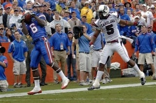 Illustration for article titled Gators WR Excited For Passes Aimed Above His Knees