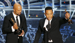 "Common and John Legend accept the best original song Oscar for ""Glory"" from the film Selma Feb. 22, 2015, in Hollywood, Calif.ABC/A.M.P.A.S."