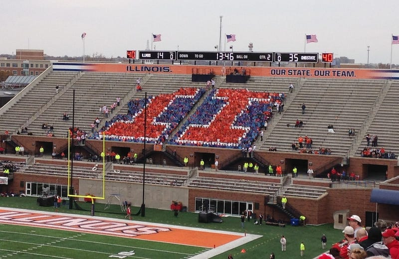 Illustration for article titled The Illinois Student Section Is The Saddest