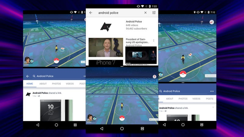 Use Android Nougat's Split-Screen On Apps Like Pokémon Go