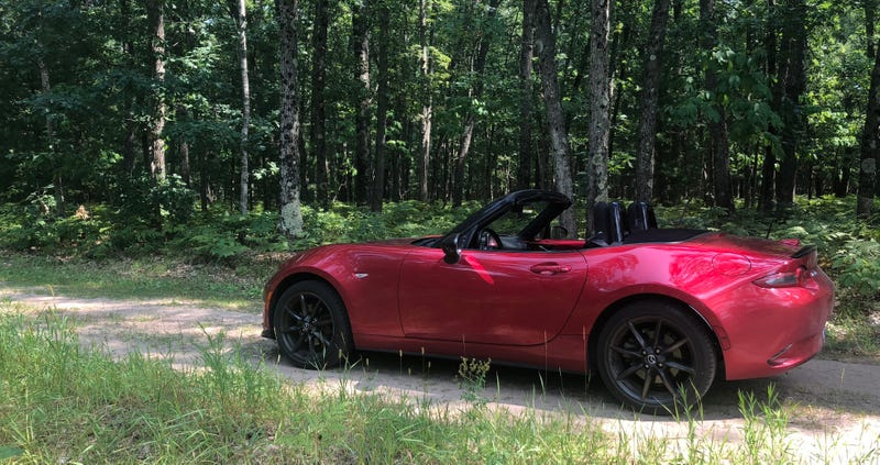 Illustration for article titled Took the Miata down some trails.