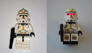 Illustration for article titled LEGO Star Wars Minifig Lights Up with LED, Scares Other Minifigs