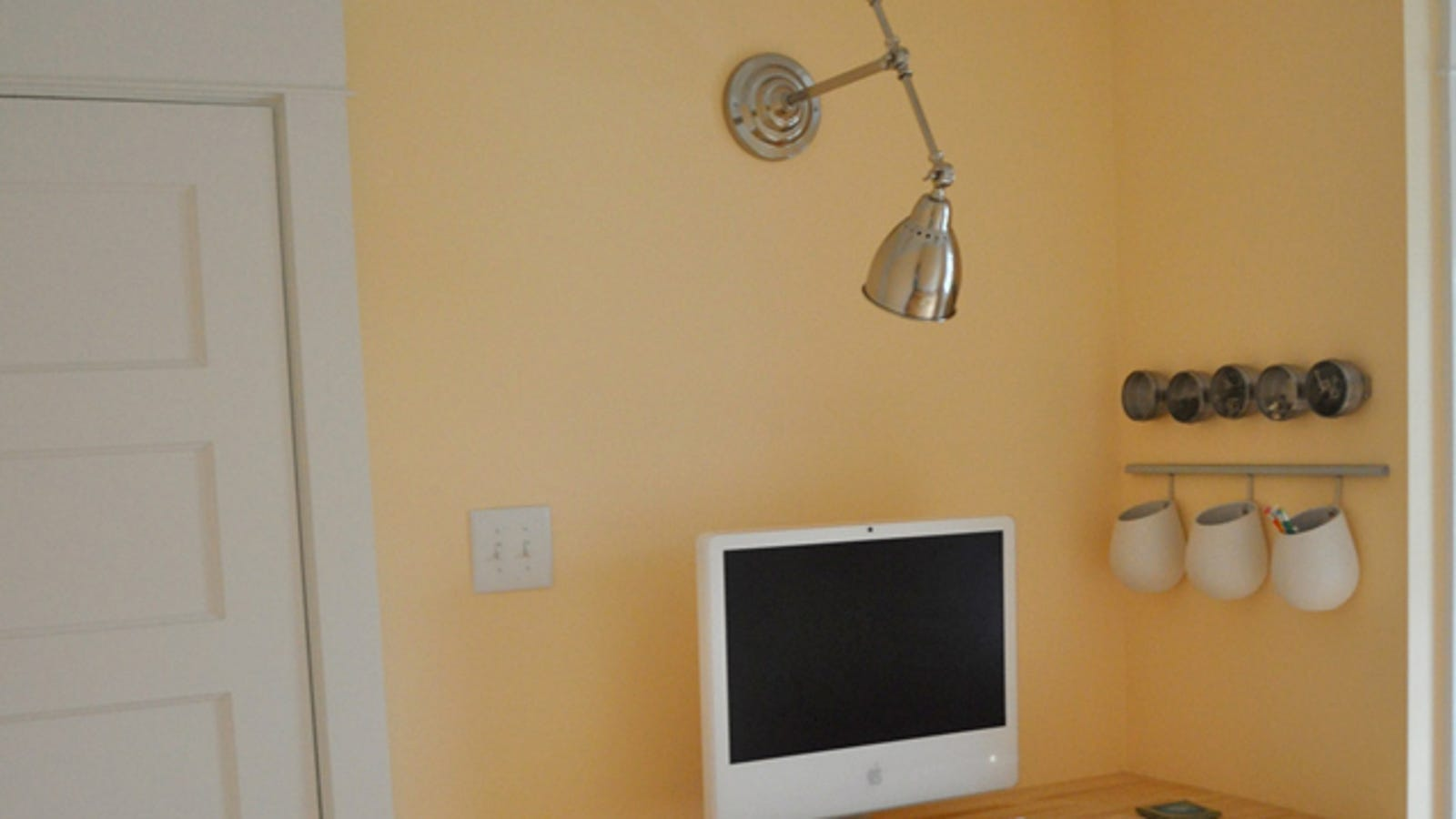 Turn A Desk Lamp Into Space Saving Wall No Wiring Sconces