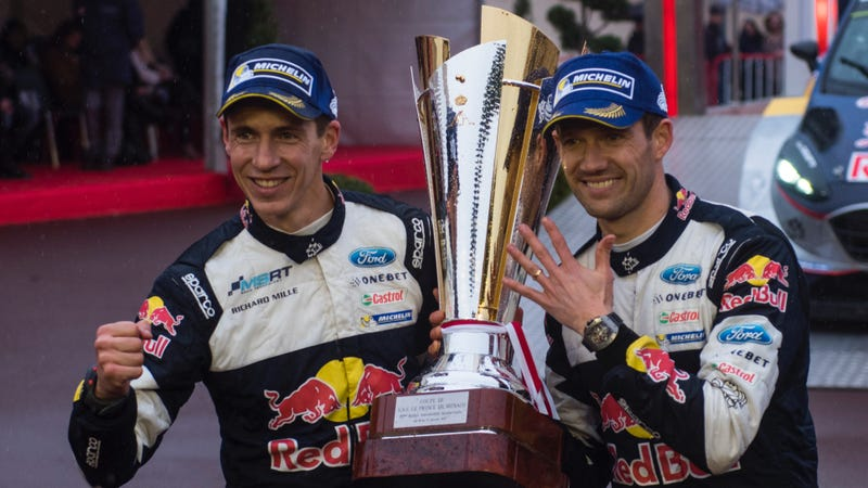 Ogier (right) may leave to spend more time with the fam. We'll see! Photo credit: Jaanus Ree/Red Bull Content Pool