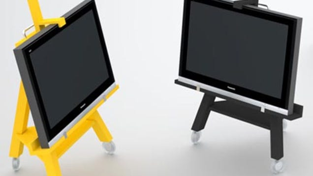 Tv easel is not just for artsy types for Meuble tv original