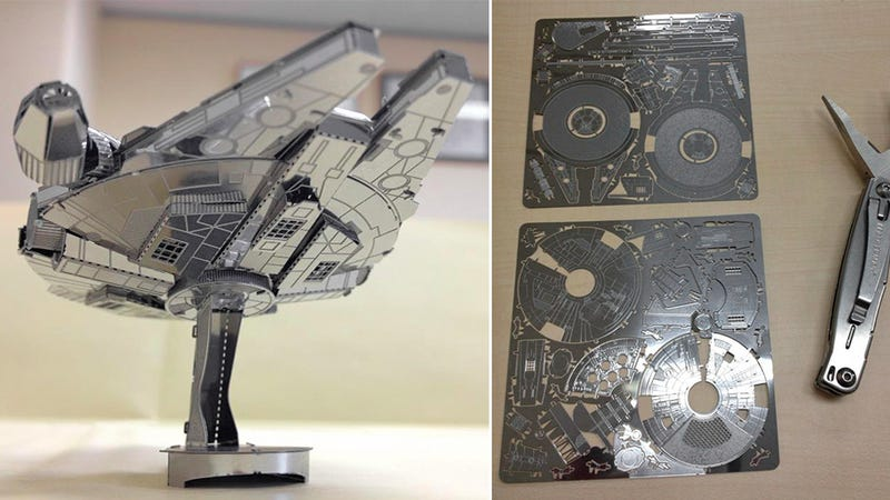 Illustration for article titled You Don't Need a Wookiee To Build This Laser-Cut Falcon Puzzle
