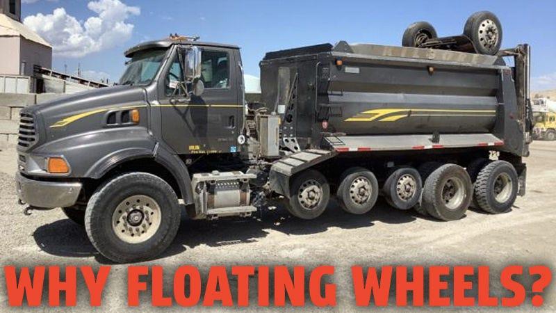 Illustration for article titled Por qué algunos camiones tienen esos neumáticos adicionales que no siempre tocan el suelo