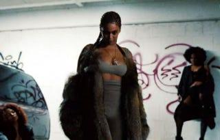 Beyoncé, in all her glory, in a scene from LemonadeHBO