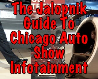 Illustration for article titled Playing With Ourselves: The Jalopnik Guide To Chicago Auto Show Infotainment