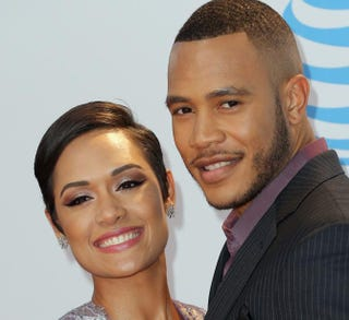 Actors Grace Gealey and Trai Byers attend the 47th NAACP Image Awards on Feb. 5, 2016, in Pasadena, Calif. Imeh Akpanudosen/Getty Images for NAACP Image Awards