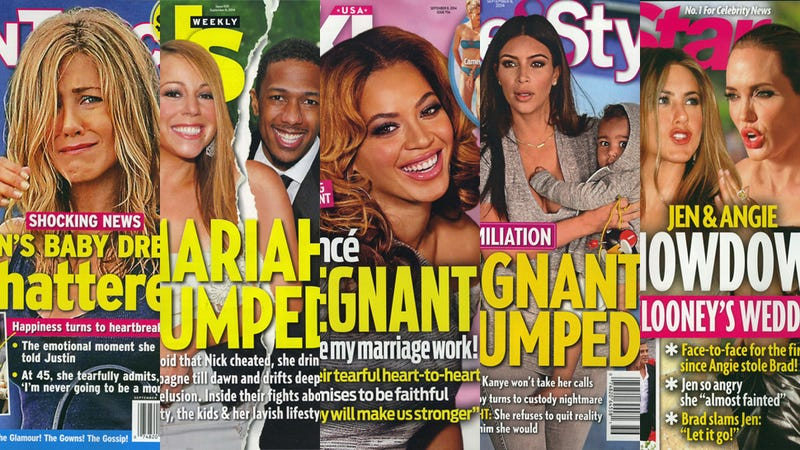 Illustration for article titled This Week in Tabloids: Everyone Is PREGNANT and/or DUMPED