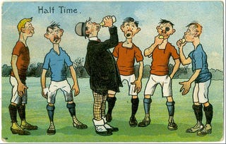 Illustration for article titled Soccer Postcards From A Simpler, More British Time