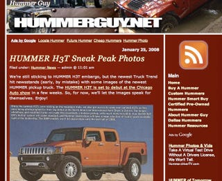 Illustration for article titled 2009 Hummer H3T Coming to Chicago via Truck Trend Mag Early Reveal