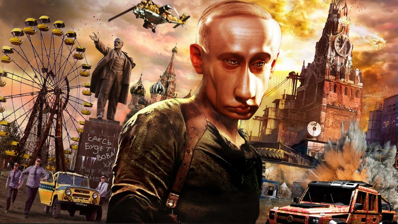 Illustration for article titled In Post-Apocalyptic Russia, Putin Stars In Die Hard, Everything Explodes