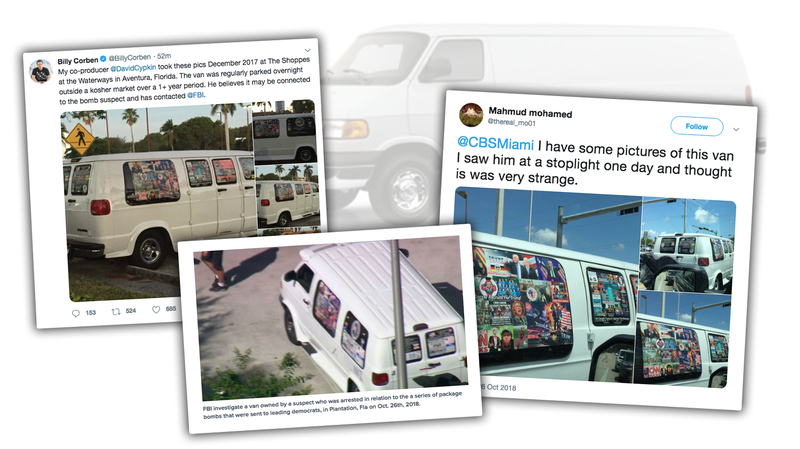 Illustration for article titled The Mail Bombing Suspect's White Van Looks Exactly Like You're Imagining It Looks