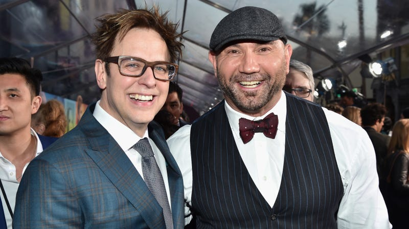 Illustration for article titled Dave Bautista is cool with Disney now, but he doesn't regret standing by James Gunn