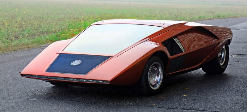 Illustration for article titled The Bertone Lancia Stratos HF Zero Was The Baddest Disco Spaceship Wedge