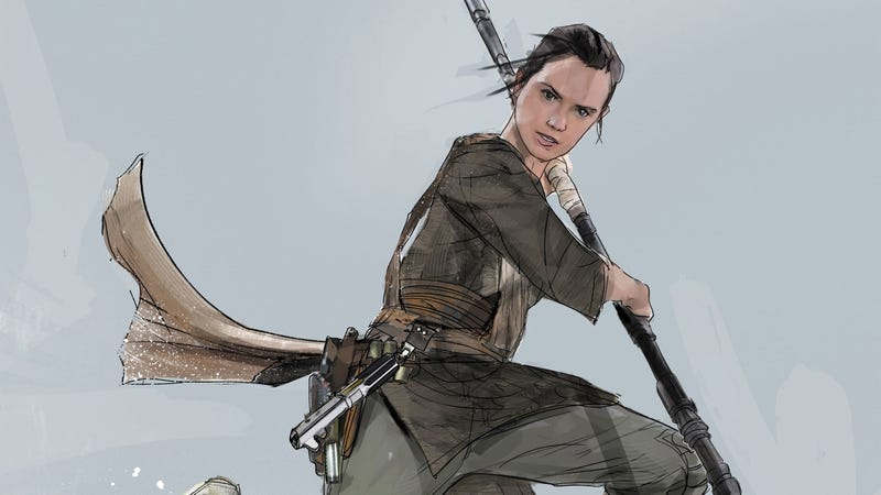 Rey concept art by Jock from The Art of Star Wars: The Last Jedi book. Image: Abrams Books