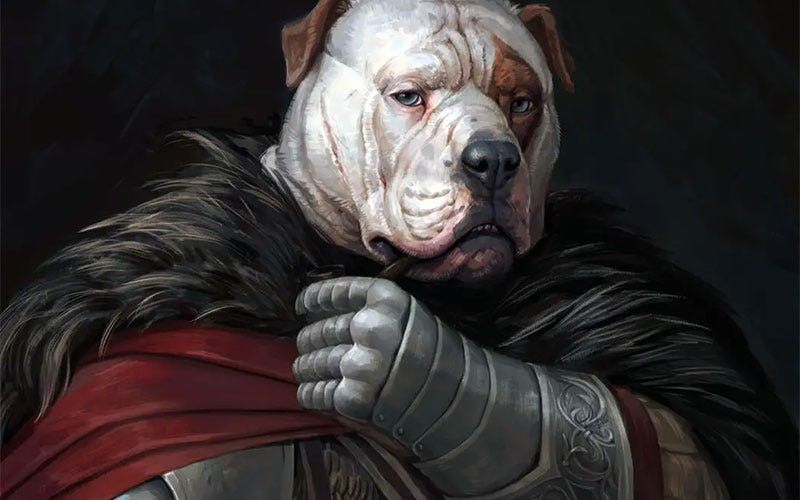 Illustration de l'article intitulé Arise, Sir Goodboye Of Dogginton