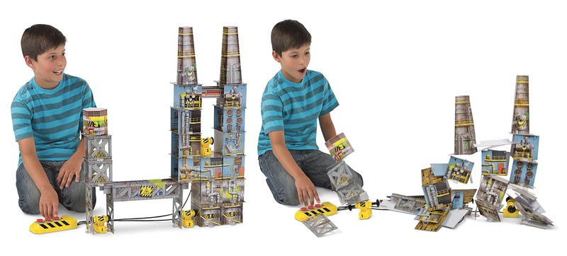 Illustration for article titled A Building Set With Fake Explosives Lets Kids Demolish Their Creations