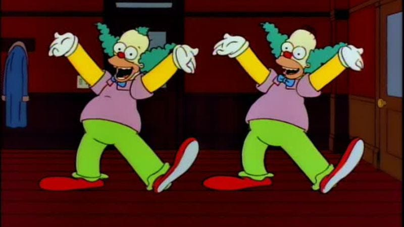 """Illustration for article titled The Simpsons (Classic): """"Homie The Clown"""""""