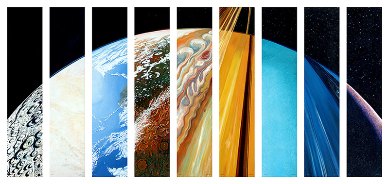 Illustration for article titled Steve Gildea's Stunning Planetary Suite Has Upgraded Pluto's Appearance