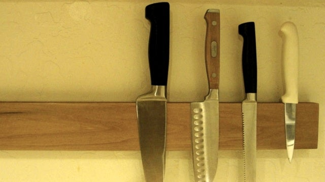Mount Your Knives To The Wall With Hard Drive Magnets