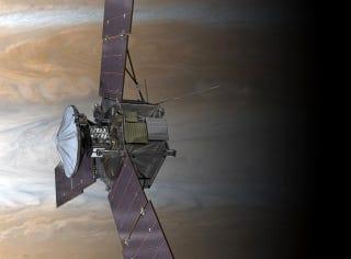 Illustration for article titled La sonda Juno se prepara para alcanzar los 26.000 Km/h hacia Júpiter