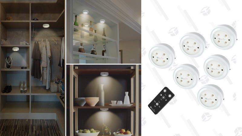 OxyLED Wireless LED Puck lights | $19 | Amazon | Promo code 4296V9FB