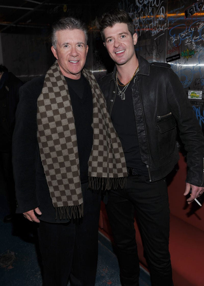 Alan Thicke and Robin Thicke at the Sundance Film Festival on Jan. 21, 2012, in Park City, Utah.   Dimitrios Kambouris/Getty Images