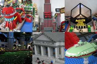 Illustration for article titled Marvel at Futurama's New New York in Lego