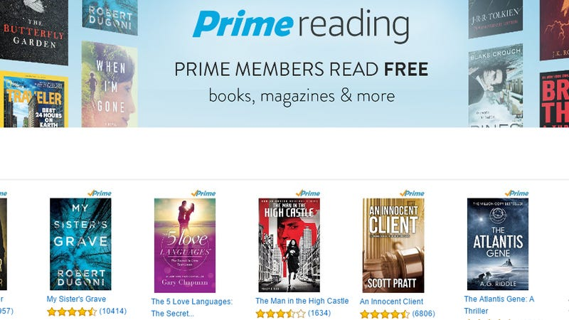 Illustration for article titled Amazon Prime Reading Offers a Rotating Selection of Over a Thousand Books