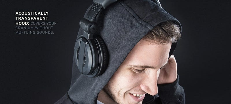 Illustration for article titled A Hoodie Made From Speaker Fabric Won't Muffle Your Headphones