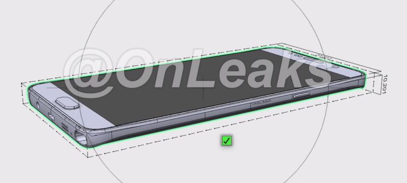 Illustration for article titled Nuevas filtraciones apuntan que el Galaxy Note 5 será similar al S6 Edge