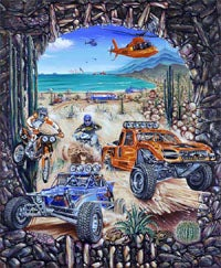 Illustration for article titled Insane-Looking Mexican Road Race Gets Video Game