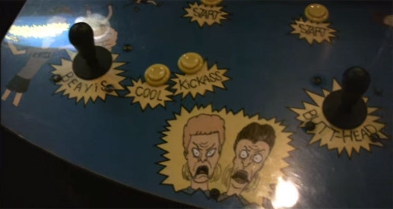 Lost Beavis and Butt-Head Arcade Game Found, Restored And Now Playable