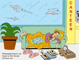 Illustration for article titled Make the Most of Your Travel Delay with Sleeping in Airports