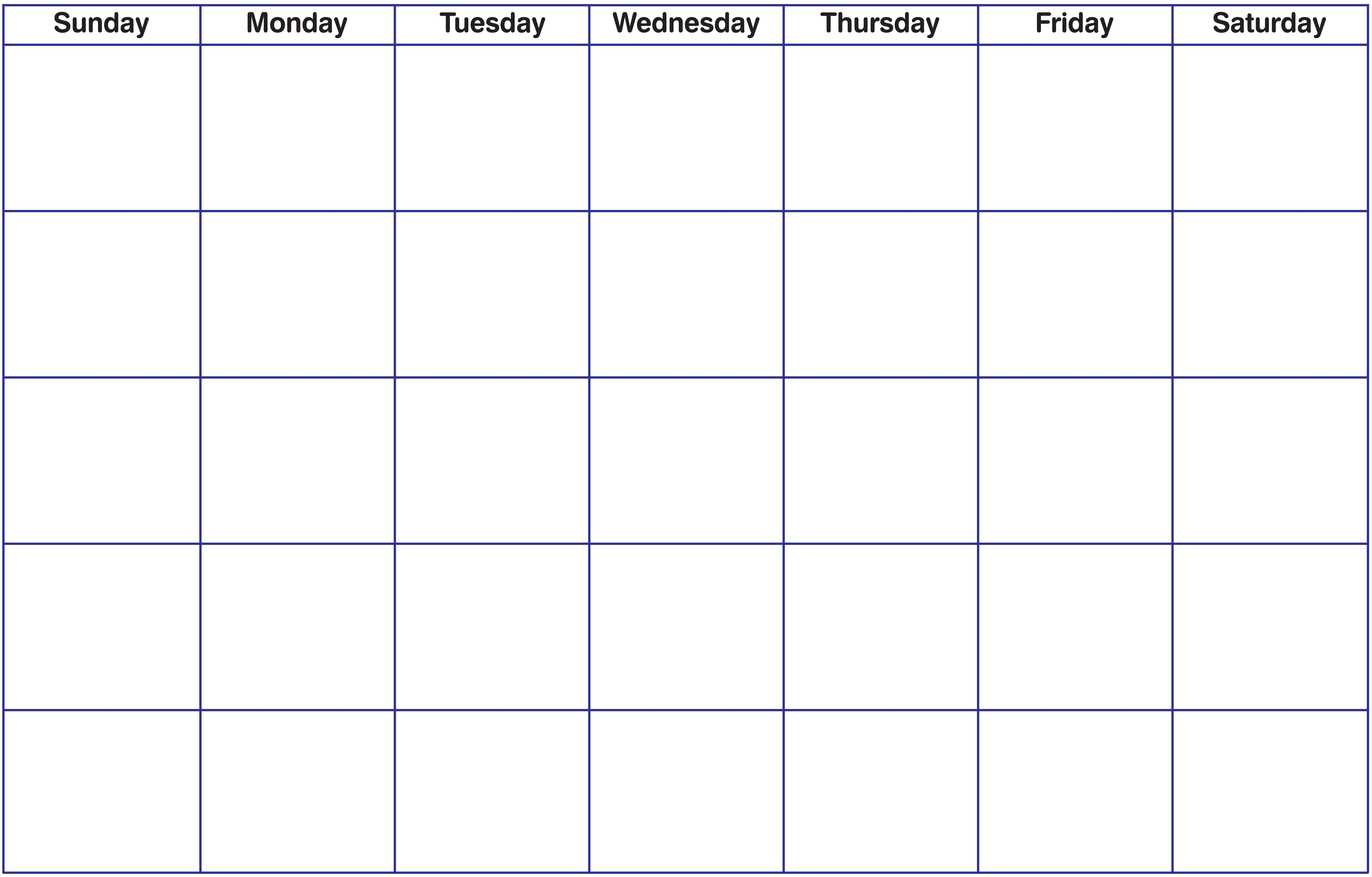 Calendar Blank Calendar